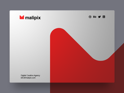 Malipix - minimalistic website