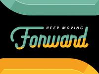 Forward custom lettering