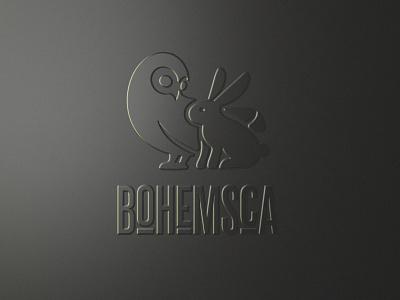 Bohemsca logo lemonade logo czech logo rabbit owl