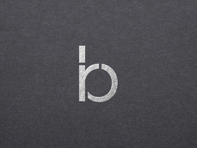 rb logo rb letter monogram typography logo
