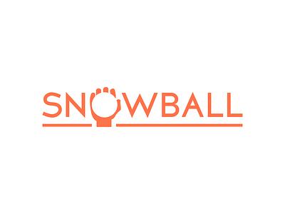 Snowball logo negative space typography graphic design logo