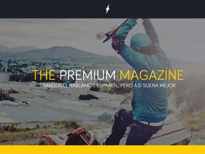 Landing page (preview) landing blog web izee design yellow bolt bariol
