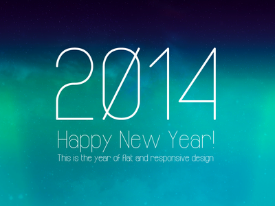 2014 This is the year of flat and responsive design