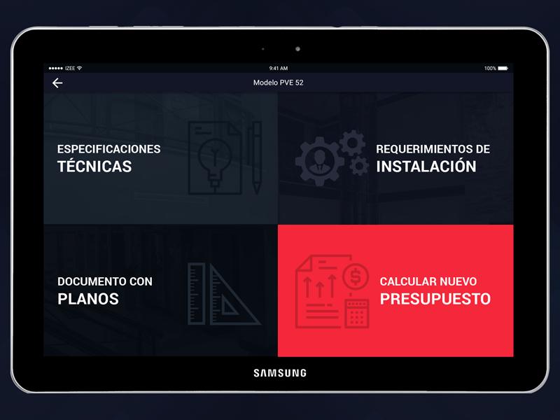 Menu in app app design android tablet menu