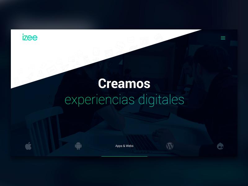 izee, new development izee exclusive responsive design development agency green website app web