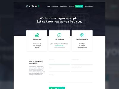 Contact page - Splendit Web