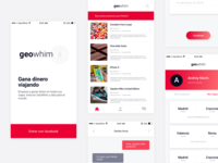 Geowhim iOS and Android app startup design ios android app geowhim