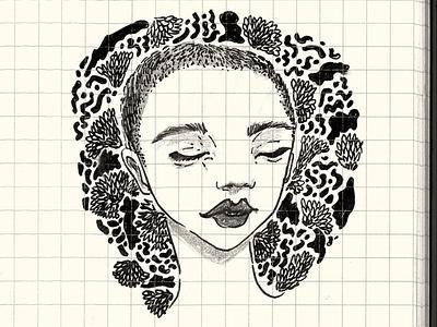 Lady sketchbook sketch