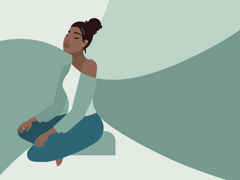 Meditate drawing vector illustration