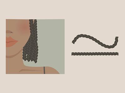 Free Braid Illustrator Brush graphic design vector illustration free braid resource free hair resource woman of colour hair free braid free illustrator free brush brush free