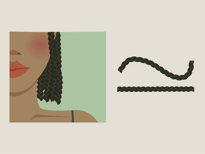 Free Braid Illustrator Brush graphic design vector illustration free braid resource free hair resource woman of colour hair free braid free illustrator free brush brush free