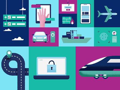 Digital transport minimal digital branding graphic design illustrator illustration vector