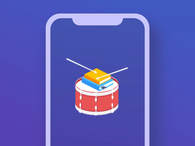 Lottie animation for Go Drums! app