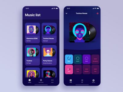 Music app concept