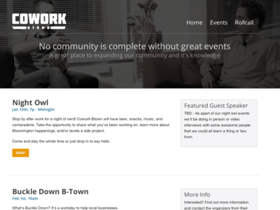 Cowork Events Page