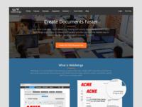 Webmerge Homepage WIP