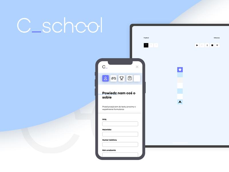 Learn programming with C_school web branding ux mobile app icon design ui