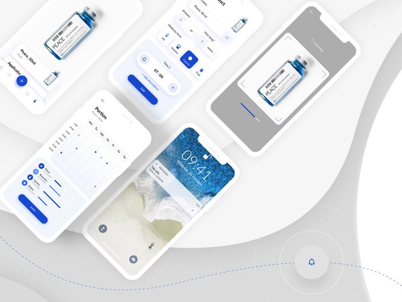 Pillr Reminder App interface reminder pill ios healthcare design ux mobile ui invo app
