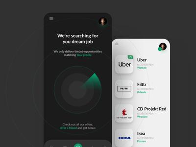 FILTTR - Recruting App branding ux mobile app design ui