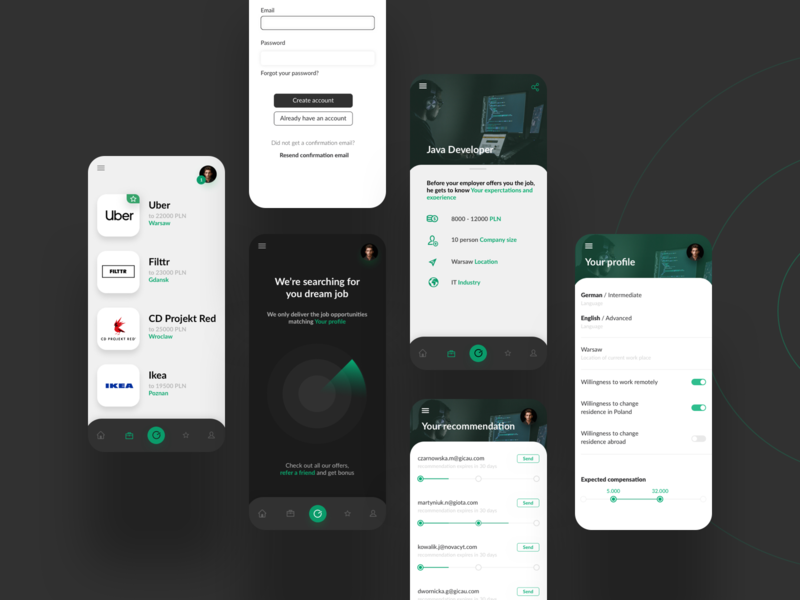 FILTTR - Recruting App recruting app mobile application design ui