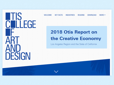 Otis College - Creative Economy Microsite interaction design front-end development web design user experience design
