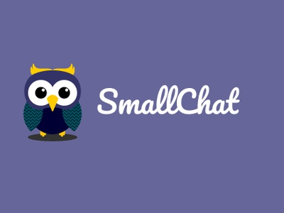 SmallChat identity branding portfolio flat minimal illustration logo icon web vector typography landing page website app ux ui web design