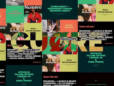 CUØRE agency website