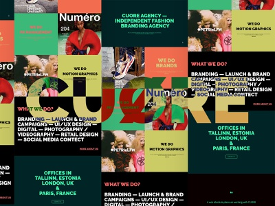 CUØRE agency website vector website creative director portfolio design app landing page ux ui web design