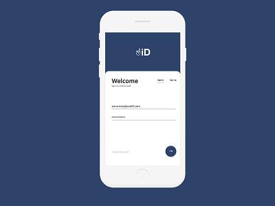 oneID identity logo web portfolio design app landing page ux web design ui