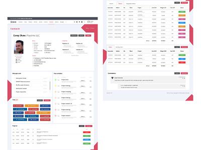 Contact profile - SCORO concept branding identity web website portfolio design landing page web design ux ui