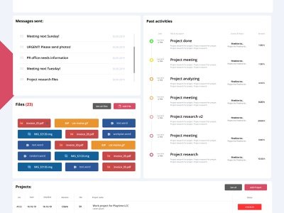 Contacts profile - SCORO concept ui  ux portfolio branding identity web website design landing page ux web design ui