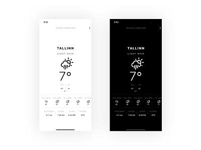 Weather application animation typography logo illustration identity app portfolio design ux ui