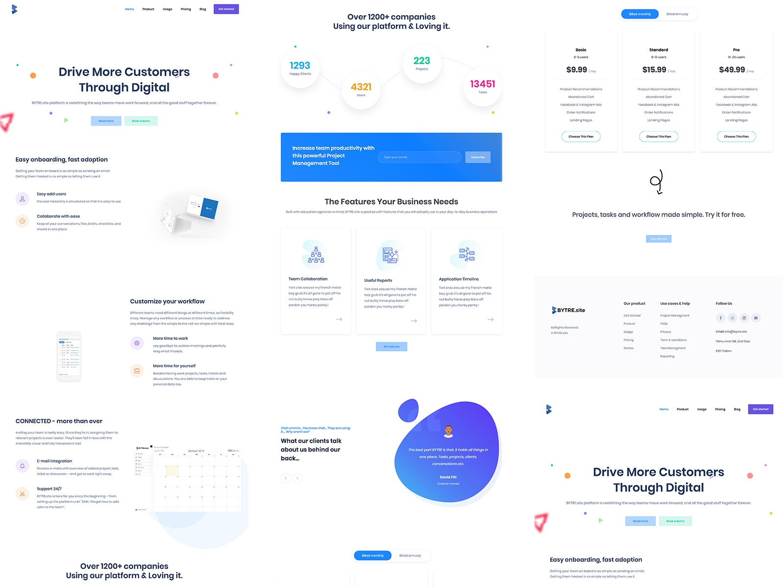 BYTRE.site landing page