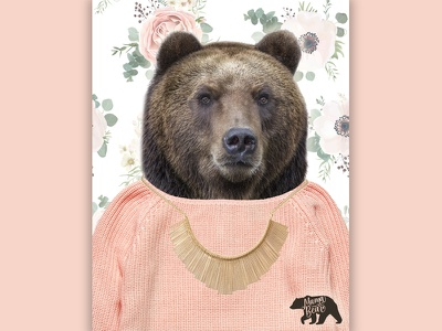 Gifts For Mama Bear : Jewelry Story Campaign retail jewelry store mothers day ad campaign human bear graphic design design bear jewelry