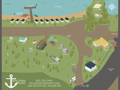 Map Design: Hills Point Resort