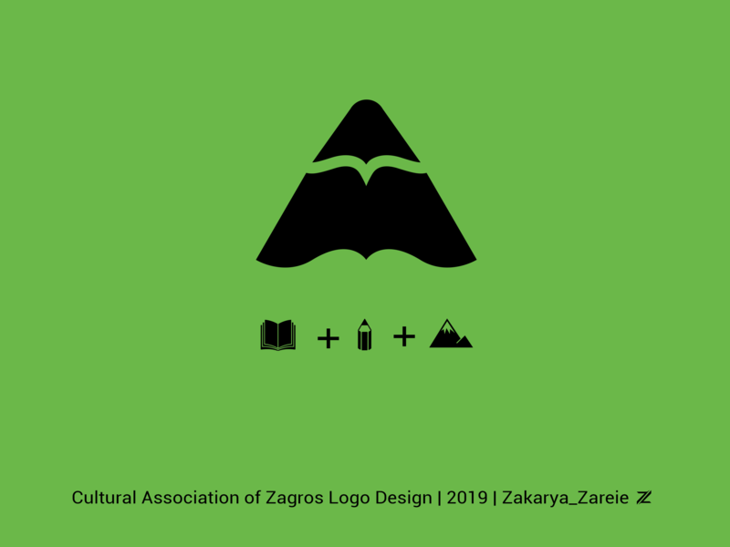 Cultural Association of Zagros logo design modern society pencil logo design cultural association cultural book zagros-mountain zagrosmountain mountain mountain peak