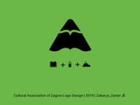 Cultural Association of Zagros logo design