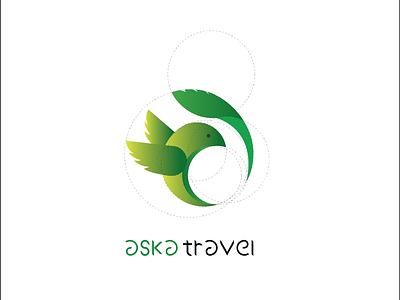 aska travel logo abird logo bird golden ration goldenratio logotype logo aska travel agency travelagency travelogo