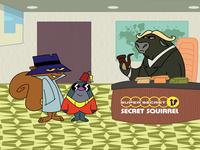 super secret secret squirrel... logo vector digital art illustration