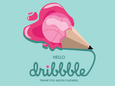 hi dribbble! first shot illustrator illustration hello dribbble debut