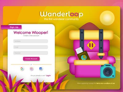 Wanderloop Sign Up