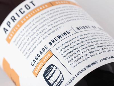 Cascade Brewing - Back Label Detail