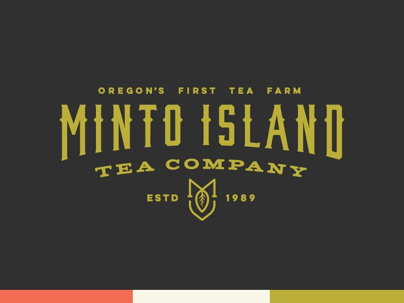 Minto Island Tea Company - Logo green oregon type monogram leaf farm tea logo