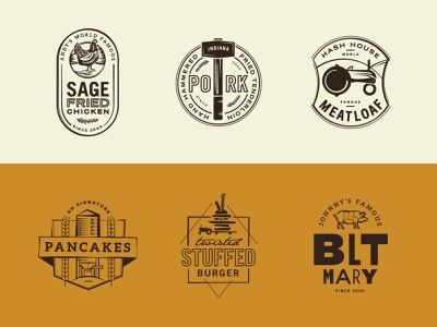 Hash House A Go Go - Sub Brands pig rosemary food restaurant silo burger pancakes meatloaf tractor pork chicken sage logo
