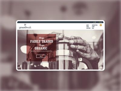 Groundwork Coffee - Website Design