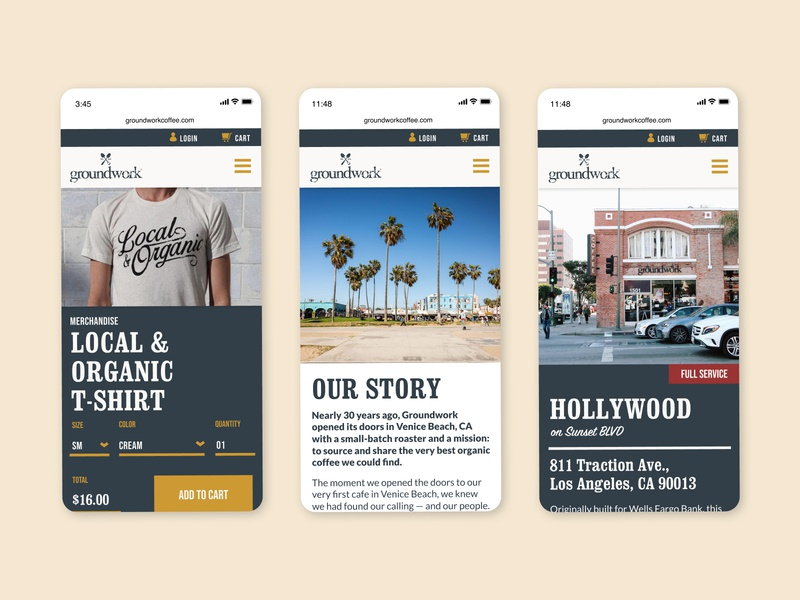 Groundwork Coffee - Website Design website design website coffee