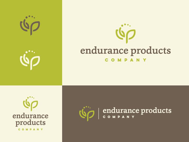 Endurance Products Co. - Logo Variants nutrition vitamins leaf monogram logomark logo health supplement