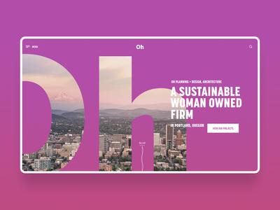 Oh Planning + Design, Architecture - Website Design