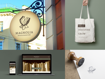 Magnolia Antique Bookstore - Collateral