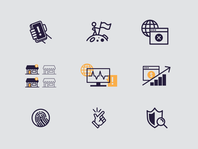 Cyber Fortress Icons